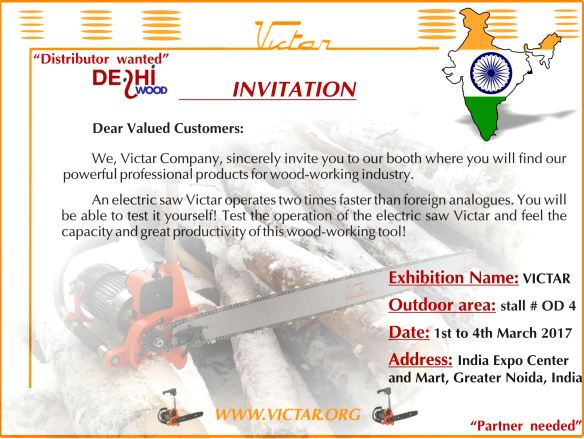 Victar is exhibiting at DelhiWood 2017 | Victar